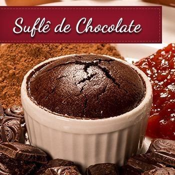 Receita de Suflê de Chocolate com Geleia de Goiaba