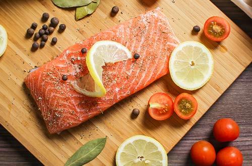 Receita com salmão