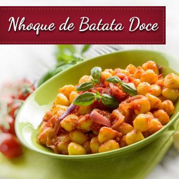 Receita de Nhoque de batata doce e mandioquinha salsa